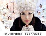 winter numerology  magic of... | Shutterstock . vector #516770353
