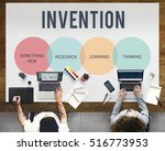 innovation start up creative... | Shutterstock . vector #516773953