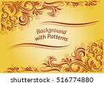 golden background with abstract ... | Shutterstock .eps vector #516774880