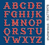 sport team classic style font.... | Shutterstock .eps vector #516775978