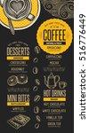 coffee menu placemat food...   Shutterstock .eps vector #516776449