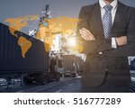 global logistics network... | Shutterstock . vector #516777289