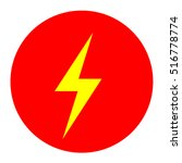 lightning icons vector eps 10... | Shutterstock .eps vector #516778774