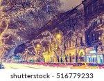 christmas light on central... | Shutterstock . vector #516779233