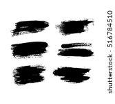 set of brush strokes | Shutterstock .eps vector #516784510