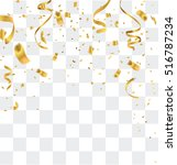 gold confetti celebration | Shutterstock .eps vector #516787234