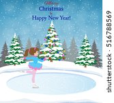 happy new year and merry... | Shutterstock .eps vector #516788569