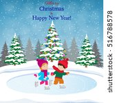 happy new year and merry... | Shutterstock .eps vector #516788578
