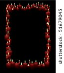 red vector candles form a... | Shutterstock .eps vector #51679045