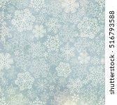 vector snowflakes blue... | Shutterstock .eps vector #516793588