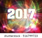 happy new year 2017 very bright ... | Shutterstock .eps vector #516799723