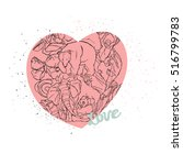 heart symbol of love and... | Shutterstock .eps vector #516799783