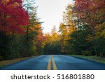 Highway Through Fall Foliage