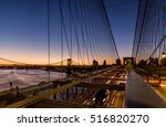 sunrise at brooklyn bridge with ... | Shutterstock . vector #516820270