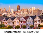 the painted ladies of san...   Shutterstock . vector #516825040