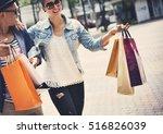 people shopping spending... | Shutterstock . vector #516826039
