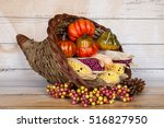 A Cornucopia Full Of Corn And...