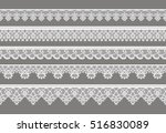 set of laces. white | Shutterstock .eps vector #516830089