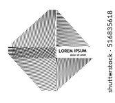 logo striped square. vector | Shutterstock .eps vector #516835618