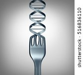 dna food and genetically... | Shutterstock . vector #516836110