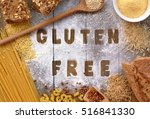 gluten free flour and cereals... | Shutterstock . vector #516841330