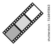 film icon. flat illustration of ... | Shutterstock . vector #516845863
