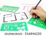 project of architecture  of... | Shutterstock . vector #516846220