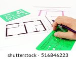 project of architecture  of... | Shutterstock . vector #516846223