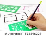project of architecture  of... | Shutterstock . vector #516846229