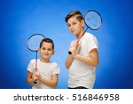 The Two Boys With Badminton...