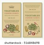 vegetables market  organic food ... | Shutterstock .eps vector #516848698