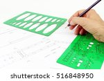 project mechanical drawing  of... | Shutterstock . vector #516848950