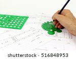 project mechanical drawing  of... | Shutterstock . vector #516848953