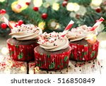 Christmas And New Year Cupcake...