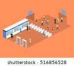 isometric flat 3d concept... | Shutterstock .eps vector #516856528