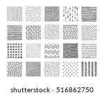hand drawn textures and brushes.... | Shutterstock .eps vector #516862750