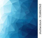 blue polygonal mosaic... | Shutterstock .eps vector #516863563
