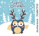 merry christmas card   Shutterstock .eps vector #516867910