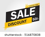super sale and special offer.... | Shutterstock .eps vector #516870838