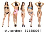 collage models in a variety of... | Shutterstock . vector #516880054