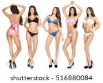 collage models in a variety of... | Shutterstock . vector #516880084