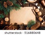 culinary background for recipe...   Shutterstock . vector #516880648