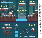 modern christmas santa... | Shutterstock .eps vector #516882838
