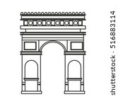 triumph arch france isolated... | Shutterstock .eps vector #516883114