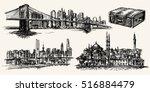 travel the world  new york ...   Shutterstock .eps vector #516884479