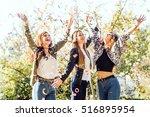 portrait of group of friends... | Shutterstock . vector #516895954