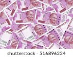 Stock photo new indian currency rupees 516896224