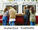 portrait of group of friends... | Shutterstock . vector #516896896