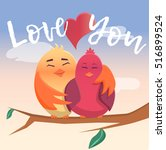 """illustration """"love you"""" with... 