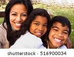 mother and her children. | Shutterstock . vector #516900034